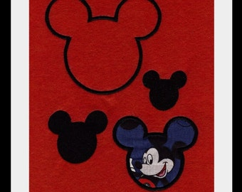 MICKEY APPLIQUE and FILLED EMBROIDERY DESIGNS 8 designs included