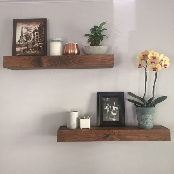 Floating shelves shelves bathroom shelf kitchen shelf for Shelf decor items