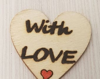Handmade hearts,personalized heart,gift for her,wedding gift,wooden hearts,personalized gift,couple gift,Valentin gift,pendant,charm,pendent