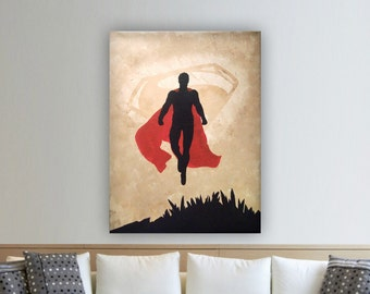 Superman Hand Painted Canvas Art