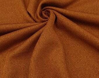 "Copper Penny Poly/Lycra Rib Knit 60"" Wide"