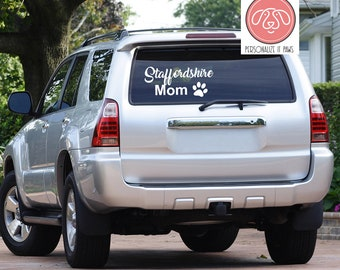 Staffordshire Bull Terrier Dog mom Decal