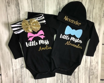 Twin baby gift etsy twin bodysuit setpersonalized twin baby gift negle Gallery