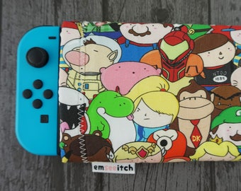 Nintendo Crowd Cute Character Patterned Nintendo Switch Protective Fabric Pouch Case- Mario, Zelda, Kirby, Metroid, Pokemon, Animal Crossing