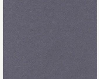 """Fabric Remnant, Coal, Kona Cotton, Robert Kaufman Fabrics, 19"""""""