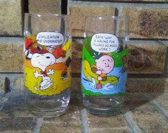 McDonald's Peanuts Camp Snoopy Glasses