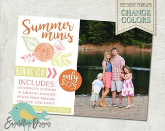 Summer Mini Sessions PHOTOSHOP TEMPLATE - Mini Photoshoot 32