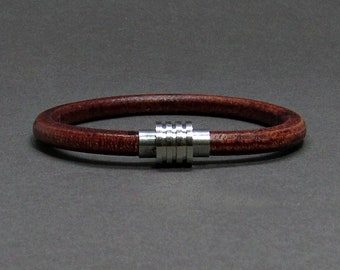 NEW DESIGN Boyfriend Gift, Bracelet For Men, Mens Bracelet Silver Stainless Steel Leather Bracelet, For Boyfriend, Customised On Your Wrist