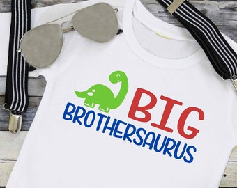 Big Brothersaurus SVG/PNG/EPS/dxf, Big Brother svg,  Big Brother Shirt,  Boy svg, Boy Clothes, Dinosaur svg, Promoted to Big Brother, Cute