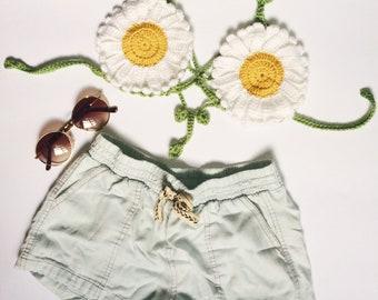 Daisy Crochet Festival Top | Crochet Bralette | Crochet Crop Top