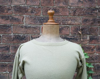 1940s WWII US Army-Issued Wool Long Sleeve Shirt