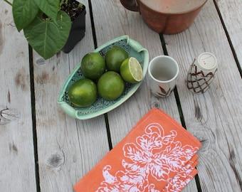 autumn orange napkin set