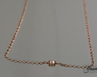 Sweet pearl and silver rose gold plated