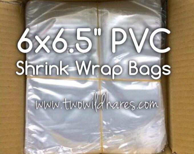 """500-PVC 6x6.5"""" MEDIUM Shrink Wrap Bags, 80g, High Clarity, For Soap, Bath Bombs Etc"""