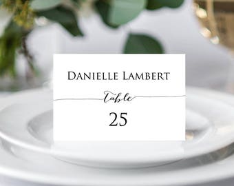Wedding Place Cards Template, Wedding Place Cards, Place Card Template, Place Cards Printable, Place Card Template, Christmas Place Cards