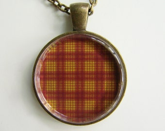 MACMILLAN DRESS Scottish TARTAN Necklace -- Wedding Necklace, Bridesmaids, Hen Night, Family plaid, Friendship token