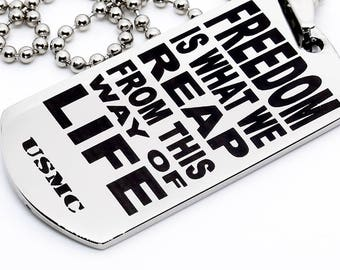 Dog Tag, Military Style Dog Tag, Stainless Steel Dog Tag, Jewelry Dog Tag, Personalized Dog Tag, Military Style Jewelry, Marine Life