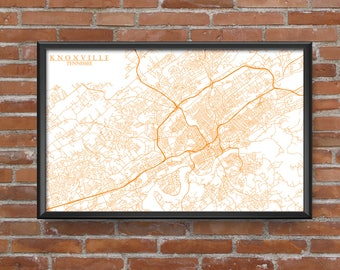 Knoxville, Tennessee Map Art