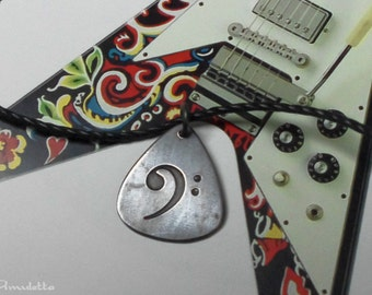 Classy-Pick - Custom guitar pick necklace - small -  gift for boyfriend, son, dad guitar jewelry