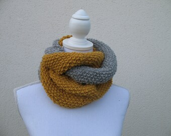 Alpaca wool Circle scarf snood
