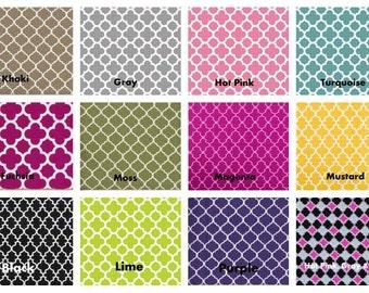 Fabric Checkbook Cover, Holder -  Pick Your Color Of Lattice Quatrefoil