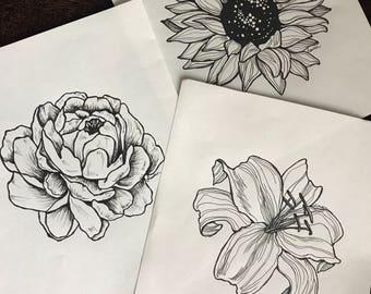 Custom flower illustration