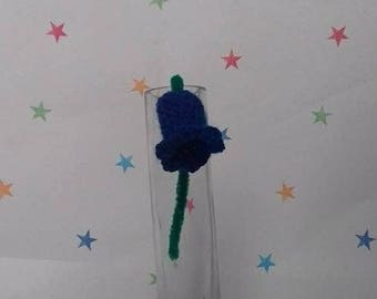 Crochet Bluebell, Single Bluebell, Wedding Flowers, Flower Lapel, Bluebell Flower, Springtime Bluebells, Mothers Day Gift, Gift for her,
