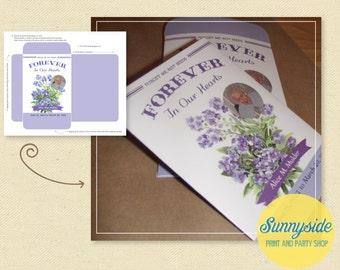 Memorial / In Memory Seed Packet - Forget Me Not Seeds, printable diy