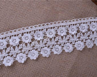 2 1/2 inch wide white lace price for 1 yard
