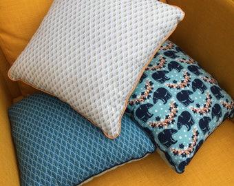 cushion fabric print blue green pastel 36 * 36 cm,