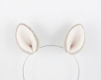 Baby Alpaca Ears Fluffy Plush Hair Clips Cute Llama Costume