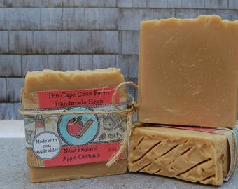 New England Apple Orchard Handmade Soap Cold Process Soap All Natural Soap