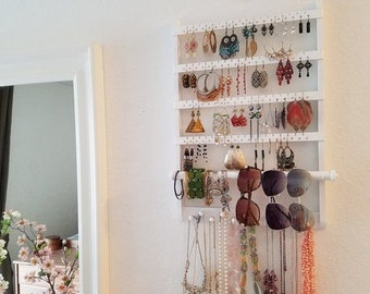 Wall mounted jewelry Etsy