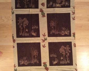 WA Wonderful Moda Migration Cream With Brown Blocks Cotton Fabric Panel Free US Shipping