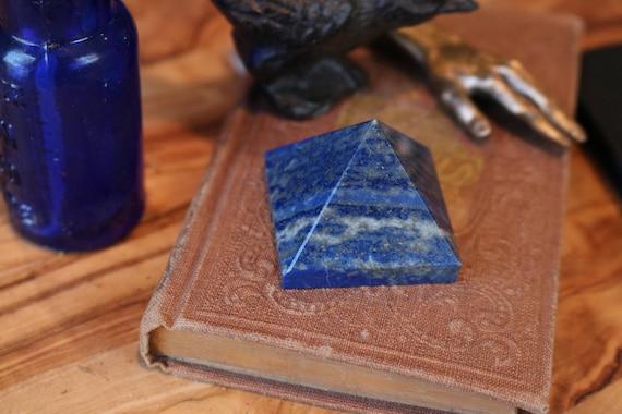 Small Lapis Pyramid, Lapis Lazuli Pyramid, Carved Lapis, Crystal Pyramid, Polished Lapis, Sacred Geometry, Crystal Grid, Healing Crystal