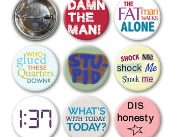EMPIRE RECORDS Inspired - Pinback Buttons (set of 8)