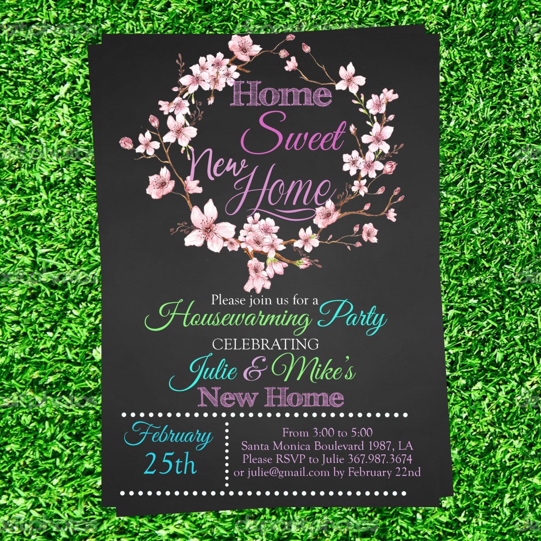 Chalkboard Housewarming Invitation weve moved invite we