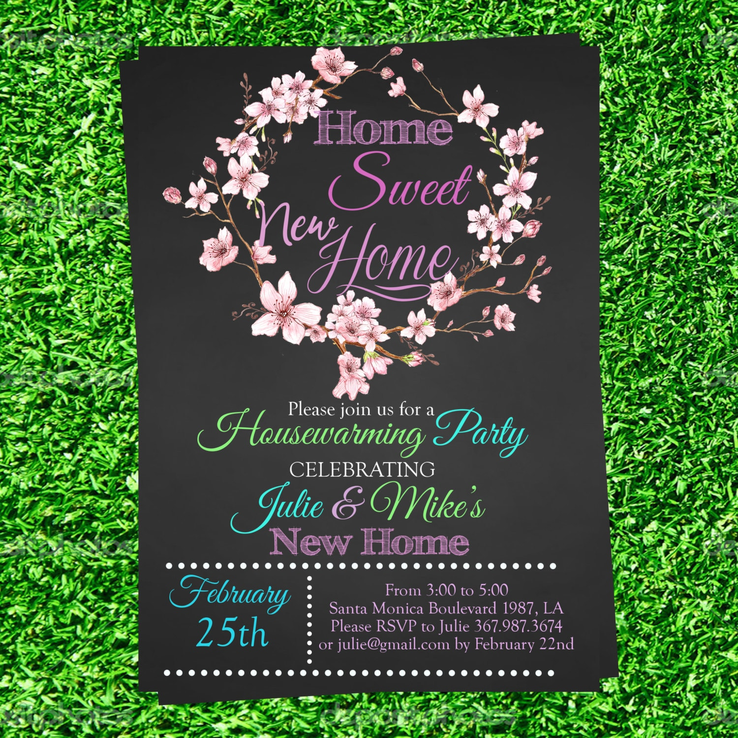Chalkboard Housewarming Invitation we\'ve moved invite we