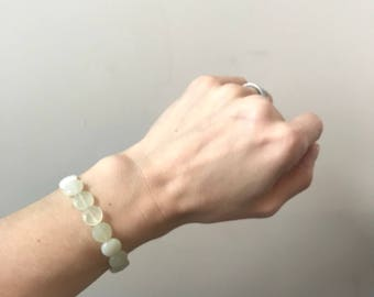 Faceted New Jade Acupressure Bracelet