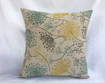 Gray Yellow Pillows - Square Pillow Covers 20x20 - 20x20 Throw Pillow Cover - Throw Pillows - Bed Pillow Covers - Gray Couch Pillows 0018
