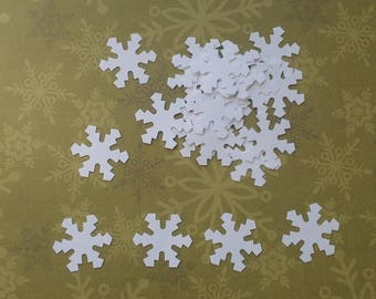 Set of 25 snowflakes from paper 2.5 cm