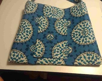 Blue hobo style bag
