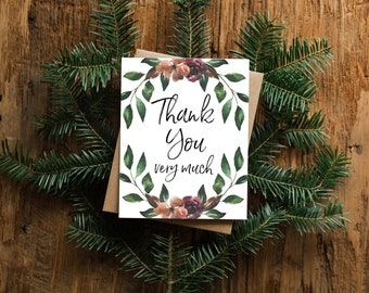 Thank You Very Much - Greeting Card - Blank Inside