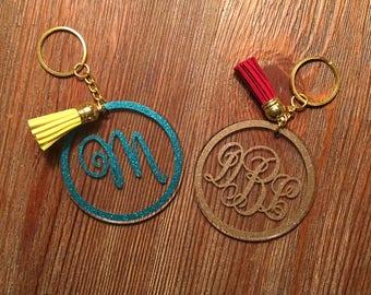 Monogram Keychain/Acrylic Keychain/Monogram Key Chain/Acrylic Key Chain/Keychain/Custom Keychain/Initial Keychain/Tassel Keychain/Key Fob