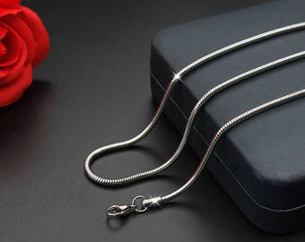 Stainless Steel Chain, Bulk Chain, Jewelry Making Chain, Men Chain,  Hypoallergenic,Snake chain-T006