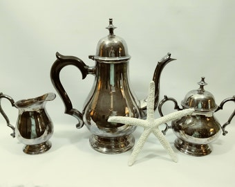 Vintage Silver Plate Coffee Set Vintage Electroplate Tea Set Leonard Silver EPNS A1 Coffee & Etsy :: Your place to buy and sell all things handmade