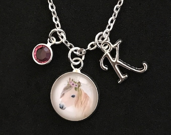 Personalized Horse Necklace Horse Jewelry