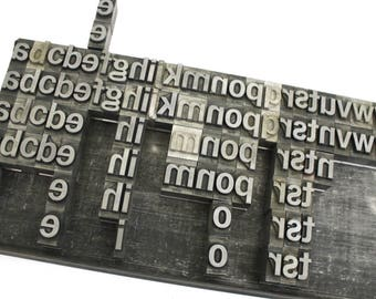 Vintage Metal Type Letterpress Lower Case Alphabet / Pick your Letters