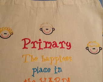 Primary Happiest Place Tote Bag