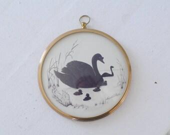 Vintage Mini Swan Print